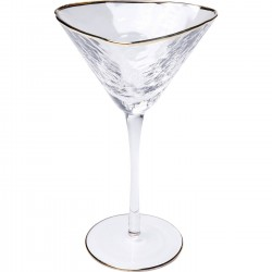Cocktailglas mit Goldrand