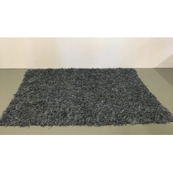 Handgefertigter grauer Teppich, 160 x 230 cm