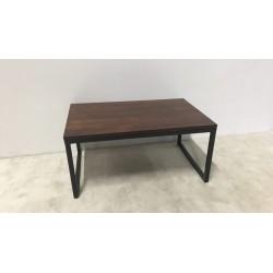Couchtisch mit Holzplatte, 70 x 45 x H 33 cm