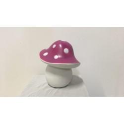 Tischleuchte pink, H 30 cm