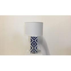 Tischleuchte weiß / blau, H 68 cm