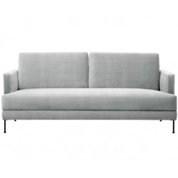 3-Sitzer Samtsofa grau, 197 cm x 83 cm