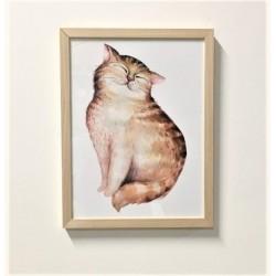 """Bild mit Rahmen """"Katze"""", 33..."""