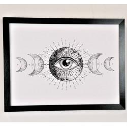 gerahmtes Wandbild, 30 x 40 cm