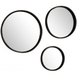 Wandspiegel-Set, 3 tlg