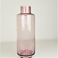 Vase rosa, mundgeblasen