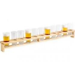 Bierbrett für 11 Gläser