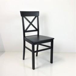 Holzstuhl schwarz