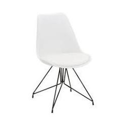 Kunststoffstuhl mit Sitzkissen