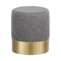 Hocker grau / gold