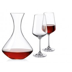 Dekanter mit 2 Gläsern