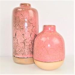 Vasen-Set mit Crackle-Effekt