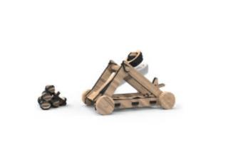 Türchen 2 Woodheroes Katapult Spielzeug